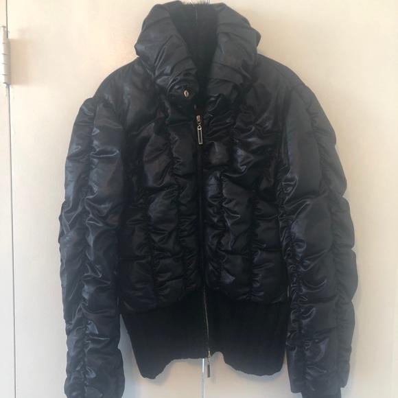 39c25a04af5f Roberto Cavalli Blk Down Jacket! Size 42. M 5b4f7e93153795eafe59123a